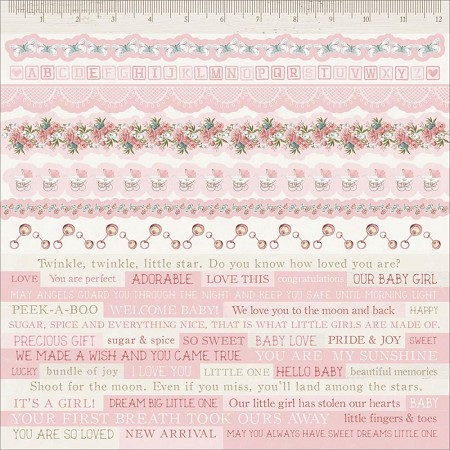 "KaiserCraft - Peek-A-Boo Collection - Girl 12""x12"" Sticker Sheet"