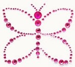 Kaiser-Rhinestone Picture-Butterfly-Hot Pink