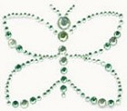 Kaiser-Rhinestone Picture-Butterfly-Mint