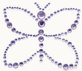 Kaiser-Rhinestone Picture-Butterfly-Lilac