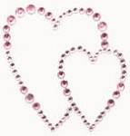 Kaiser-Rhinestone Picture-Hearts-Lt Pink