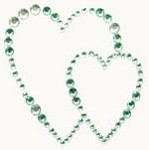 Kaiser-Rhinestone Picture-Hearts-Mint