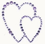 Kaiser-Rhinestone Picture-Hearts-Lilac