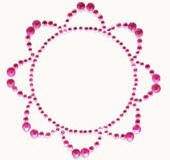 Kaiser-Rhinestone Picture-Retro-Hot Pink