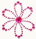 Kaiser-Rhinestone Picture-Blossom-Hot Pink