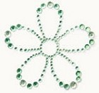 Kaiser-Rhinestone Picture-Flower-Mint