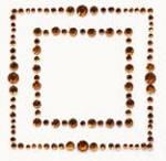 Kaiser-Rhinestone Picture-Square-Copper