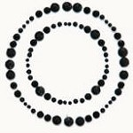 Kaiser-Rhinestone Picture-Circle-Black