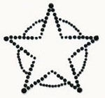 Kaiser-Rhinestone Picture-Sheriff's Star-Black