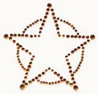 Kaiser-Rhinestone Picture-Sheriff's Star-Copper