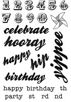 Kaisercraft - Save The Date Collection - Clear Stamps - Words & Numbers