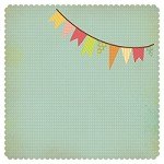 "Kaisercraft - Save The Date Collection - 12""x12"" Diecut Paper - Bunting"