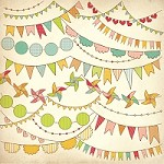 "Kaisercraft - Save The Date Collection - 12""x12"" Glitter Paper - Pennants"