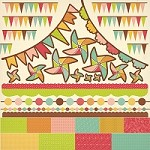 "Kaisercraft - Save The Date Collection - 12""x12"" Sticker Sheet - Pennants"
