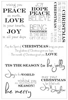 Kaiser - Christmas  - Clear Stamp Set - Sentiments