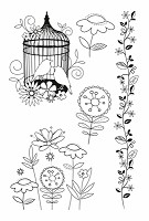 Kaiser Craft - Summer Breeze Collection - Clear Stamps