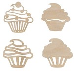 Kaiser Craft - Wood Flourish - Cupcakes