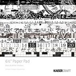 Kaisercraft-Timeless-6x6 Paper Pad Black/White
