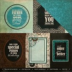 "KaiserCraft - Time Machine Collection - 12""x12"" Double Sided Cardstock - Hourglass"