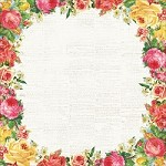 "Kaiser - Tropical Punch Collection - 12""x12"" Varnish paper - Rosewater"