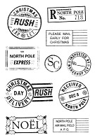 Kaisercraft - Twig & Berry Collection - Clear Stamps - Postmarks