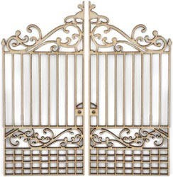 Kaiser wood flourish - Large Gate