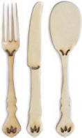 Kaiser wood flourish - Fork/Knife/Spoon