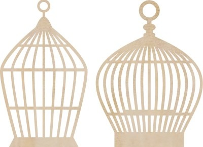 Kaiser Craft - Wood Embellishments - Small Birdcages