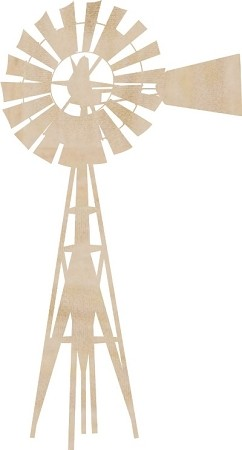 Kaiser Craft - Wood Embellishments - Windmill