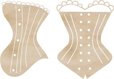 Kaiser Craft - Wood Embellishments - Corsets