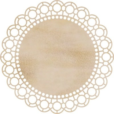 Kaiser Craft - Wood Embellishments - Large Scallop Doilie