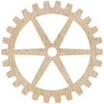 KaiserCraft - Wood Flourishes - Large Cogs