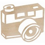 Kaiser Craft - Wood Flourish - Camera
