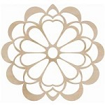 Kaiser Craft - Wood Flourish - Large Flower
