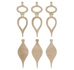 Kaiser - Wood Flourish - Mini Tear Drop Baubles