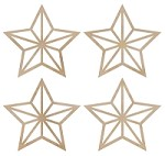 Kaiser - Wood Flourish - Mini Stars