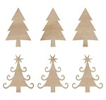 Kaiser - Wood Flourish - Mini Christmas Trees