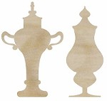 KaiserCraft - Wood Flourishes - Decorative Bottles