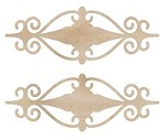 Kaiser Craft - Wood Flourish - Fancy Mini Plaque