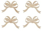 Kaiser Craft - Wood Flourish - Ribbon Bows