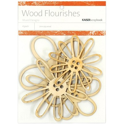 Kaiser wood flourish - Button Blooms