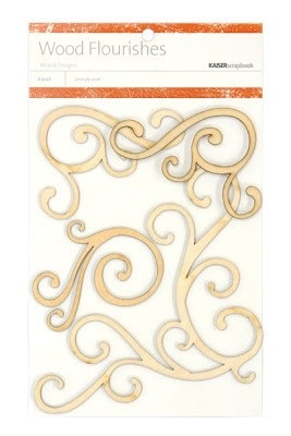 Kaiser wood flourish - Corner Swirls