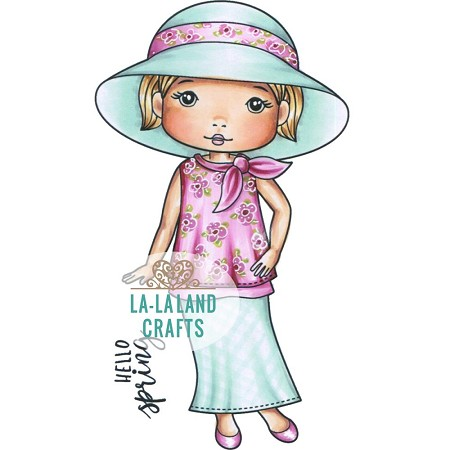 La-La Land Crafts - Rubber Cling Stamp - Spring Hat Molli