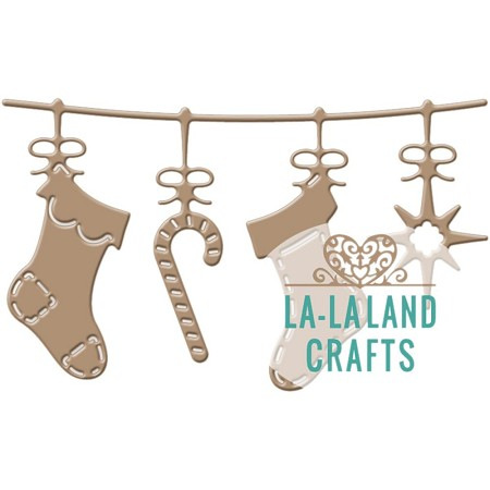 La-La Land Crafts - Die - Stockings Banner