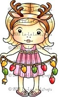 La-La Land Crafts - Rubber Cling Stamp - Sunny Christmas Marci