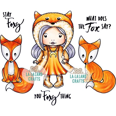 La-La Land Crafts - Rubber Cling Stamp - Stay Foxy