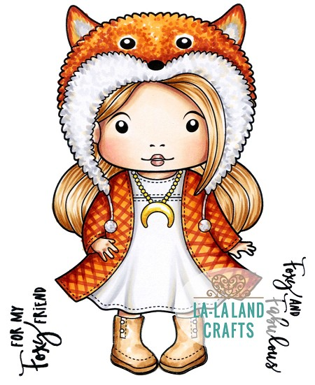 La-La Land Crafts - Rubber Cling Stamp - Foxy Marci