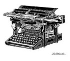 LaBlanche Silicone Stamp - Ancient Typewriter