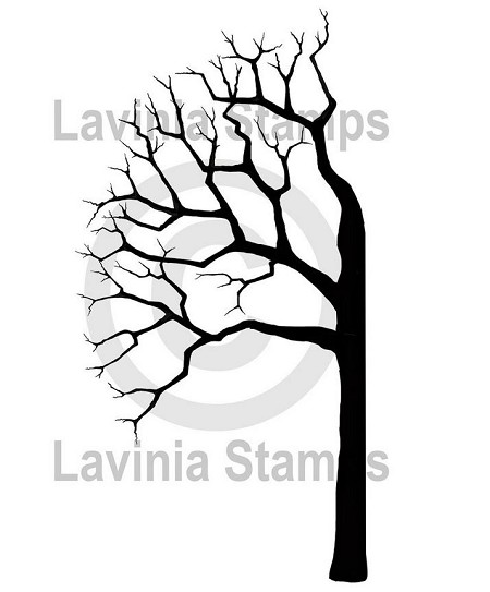 Lavinia Stamps - Clear Stamp - Tree Half Left