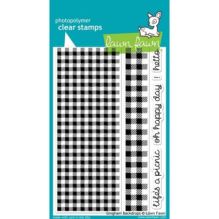 Lawn Fawn - Clear Stamps - Gingham Backdrops